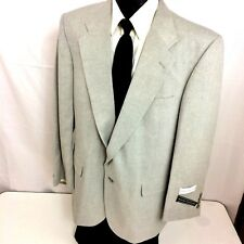 NEW David Taylor Gray ATOMIC FLECK Sport Coat 50's Style Jacket Linen Blazer 44