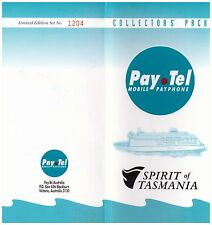 Pay.Tel Collectors' Pack - Spirit of Tasmania - Ltd edition 3 Card Set Mint