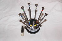 9 PIECE SCREW DRIVER SET WITH STAND AND EXTRA BLADES NEW  WATCH, HOBBY TOOLS
