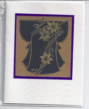 Card Blank Handmade Japanese Kimono Purple
