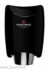 WORLD K-162 Black Aluminum SMARTdri Hand Dryer (110/120V); Automatic
