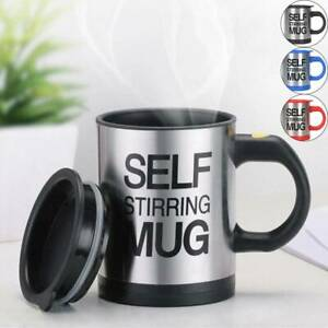 Automatic Electric Lazy Self Stirring Mug Stainless Steel Coffee Milk Mixing Cup