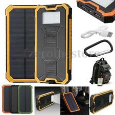 50000mAh Portable Solar Power Bank 2 USB Charger Waterproof For Tablets Phones