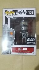 "FUNKO POP STAR WARS ""SMUGGLER'S BOUNTY"" Exclusive IG-88 Toy Figure"