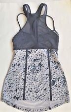 LULULEMON Pedal Pace Tank Top w Mesh Star Crushed Silver Fox Deep Navy size 4