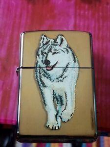 💥💥Siberian wolf zippo used from 2011 good working order (no zippo box)💥💥💥