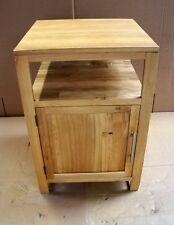 Damaged Solid Oak 55cm x 55cm Vanity Bedside Cabinet Cupboard TV Cabinet