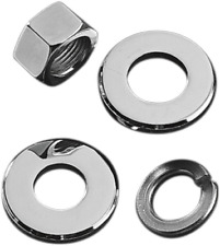 Colony Chrome Motorcycle Rear Axle Spacer Nut Kit 73-06 Touring Dyna XL