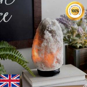 1.5-2 kg Natural Himalayan Salt Lamp Grey Crystal Rock Therapeutic Relax UK