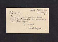 Silhouette artist Eveline von Maydell SIGNED 1951 postcard to Ferargil Galleries