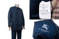 Men's Burberry London Сoat Blue Trench Nova Check Plaid Size 48