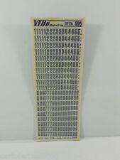 10 FOGLI TRASFERELLI TRASFERIBILI VIBO HEADLINE OUTLINE 595 mm 9,5 NUMERI