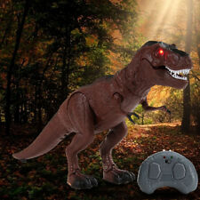 Electric Remote Control Walking Dinosaur Toy Light-Up Sound Action Figure Gifts