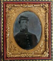 Antique Ambrotype of Civil War Soldier ~ Vintage