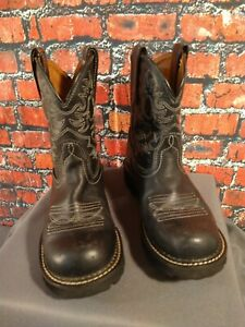 EUC women's ARIAT black leather FAT BABY western cowboy boots - SIZE 7 1/2