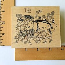 Impression Obsession Rubber Stamp - Fall Friends E11007 - NEW