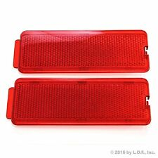 2 Ford 1999-2007 F250 SuperDuty Front or Rear Door Reflectors F350 F450 F550 Red