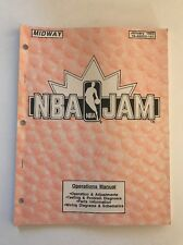 NBA JAM By MIDWAY 1993 ORIGINAL VIDEO ARCADE GAME OPERATION SERVICE MANUAL
