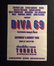 Rare Vintage 90s NYC Club Flyer: DIVA 69 @ TUNNEL NYC
