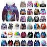 Kids Boy Girl 3D Print Hoodie Sweatshirt Hooded Pullover Long Sleeve Jacket Coat
