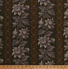 Jo Morton Charleston Flowers Civil War Green Cotton Fabric Print BTY M720.16