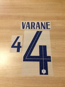 Flocage officiel VARANE N°4 EQUIPE DE FRANCE pour maillot ext vendeur pro