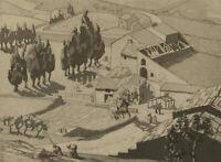 Mid 20th Century Etching - Les Baux