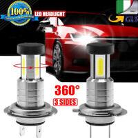 Coppia Lampade LED da Auto Fari H7 Moto Kit Lampadine 110W Luce Bianca 6000K 12V