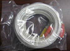 25 Ft Power Video Cctv Bnc Security Camera White Cable (Free Shipping)