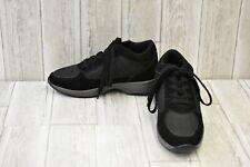 Calden FD014 Hidden Wedge Heel Athletic Sneakers, Men's Size 9, Black