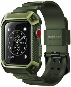 For Apple Watch 3 2 1, SUPCASE Rugged Aesthetic Case Protective Cover Strap Band