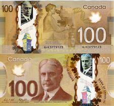"CANADA 100 DOLLAR 2011 ""2016"", P110, Sir Robert Borden, Polymer, UNC"