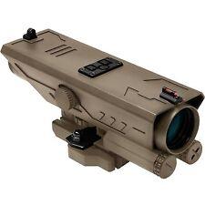 NcSTAR VISM Delta 4x30 Weaver/Picatinny Rail Rifle Scope White & Red NAV LED Tan