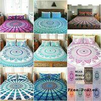Indian Hippie Mandala Duvet Doona Cover Reversible Quilt Cover Decor Bedding Set