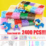2400Pcs 15 Color Fuse Beads Water Sticky Refill DIY Art Crafts Kids Toys puzzle