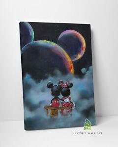 DISNEY MICKEY MOUSE MINNIE Canvas Art Wall Art Print Children Picture Print-C762