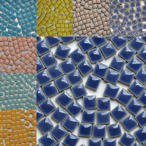 100X Square Ceramic Mosaic Tiles DIY Home Upholstery Materials 9.5*9.5*5mm Lots