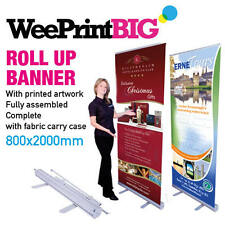 More details for roller banner stand-pop / pull / roll up 800mm x 2000mm plain or printed