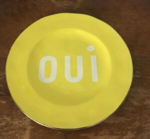 NWT Anthropologie Care V. Maisonette Dessert Plate- Yellow oui Plate