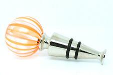 Murano Glass Bottle Stopper Orange Swirl Authentic Wine Prosecco from Venice