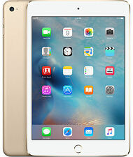 Apple iPad Mini 3 64GB Wi-Fi + 4G Cellular Gold / White Unlocked A1600
