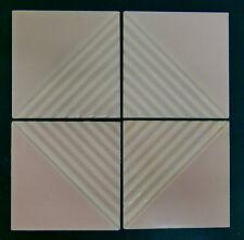 Vintage Gladding McBean Modern Tile Set/Pink=4 Ridges
