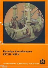 VEB Pumpenfabrik Salzwedel  Prospekt Einstufige Kreiselpumpen DDR 1986