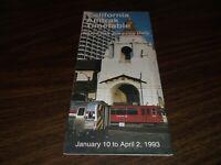 JANUARY 1993 AMTRAK CALIFORNIA TIMETABLE