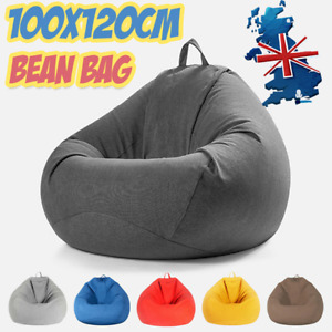 Large Bean Bag Chair Indoor Outdoor Gamer Beanbag Seat Lazy Lounger Cover Adult