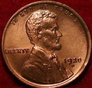 1920-D Denver Mint Copper Lincoln Wheat Cent