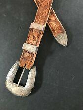 Vintage Sterling Western Ranger Set Belt Buckle Belt