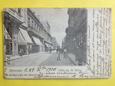 CPA TARJETA POSTAL de 1906 Amérique du Sud URUGUAY MONTEVIDEO Calle 25 de Mayo