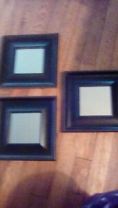"""Small Accent Wall Mirror set of 3 - Decorative mirrors 9"""" by 9"""" wall decor."""