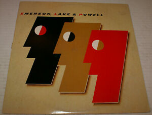 Emerson Lake & Powell S/t 1986 + Insert Lp Record Fast Shipping Touch & Go Hit